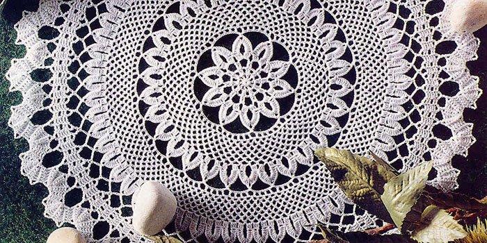 вязание салфетки крючком фото и схемы