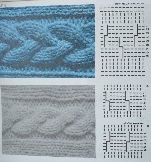 Схема вязания волнореза 71