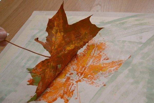 Как сделать фактуру из листьев