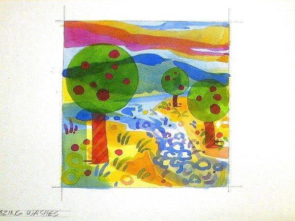 Нарисовать осень пошагово