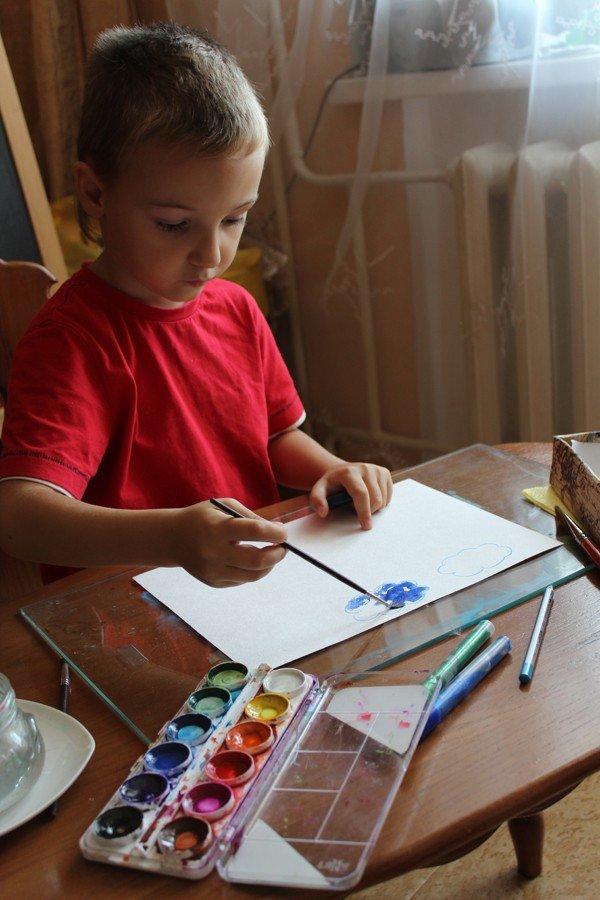 Картинки про осень нарисовать руками