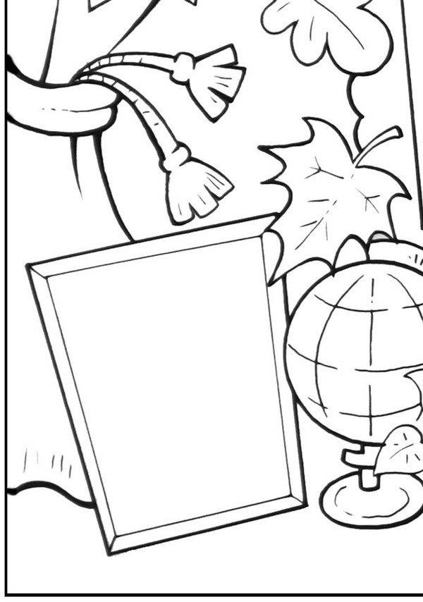День учителя открытка черно-белая