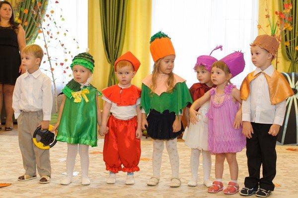 Фото детей осенью в садике