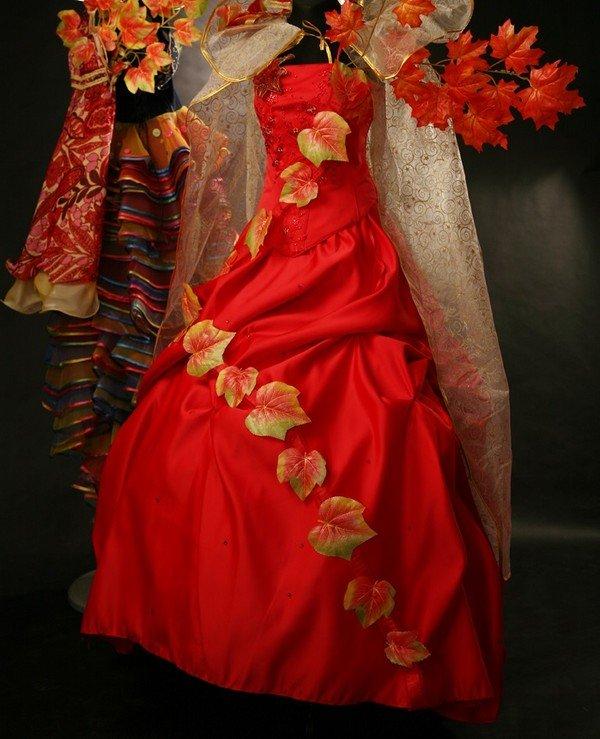 Как украсить платье на мисс осень