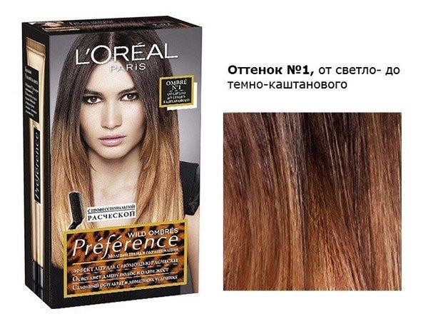 Краска для волос в два цвета лореаль