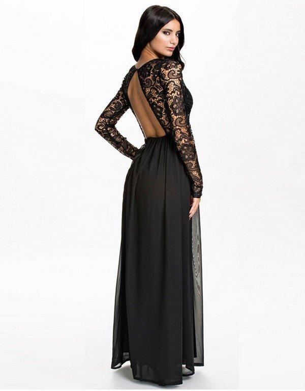 Платье в пол с руковом
