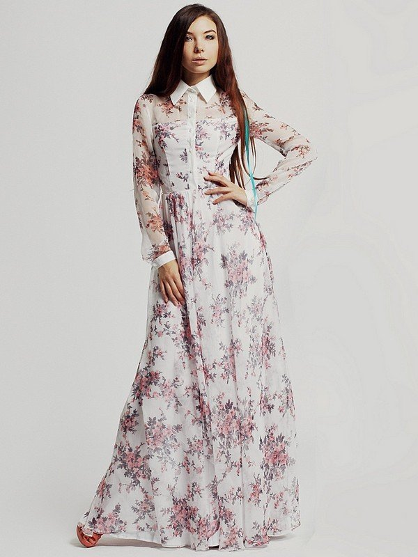 Выкройка простого длинного платья в пол