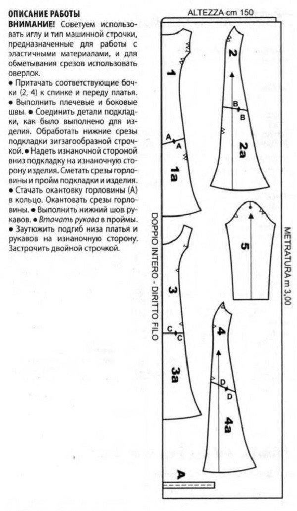 Длинное платье с рукавами выкройки своими руками