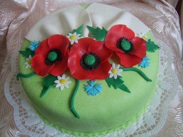 Украшение торта из мастики для начинающих