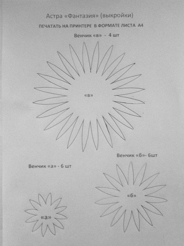 Фото шаблоны для цветов из фоамирана 96