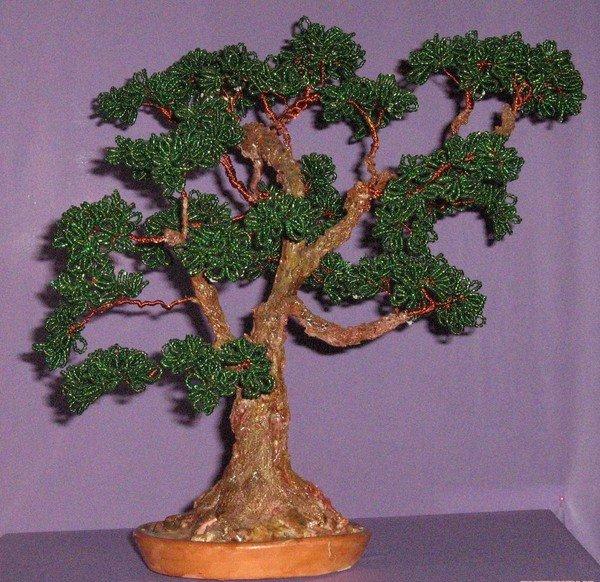 Дерево поделки бисер 63