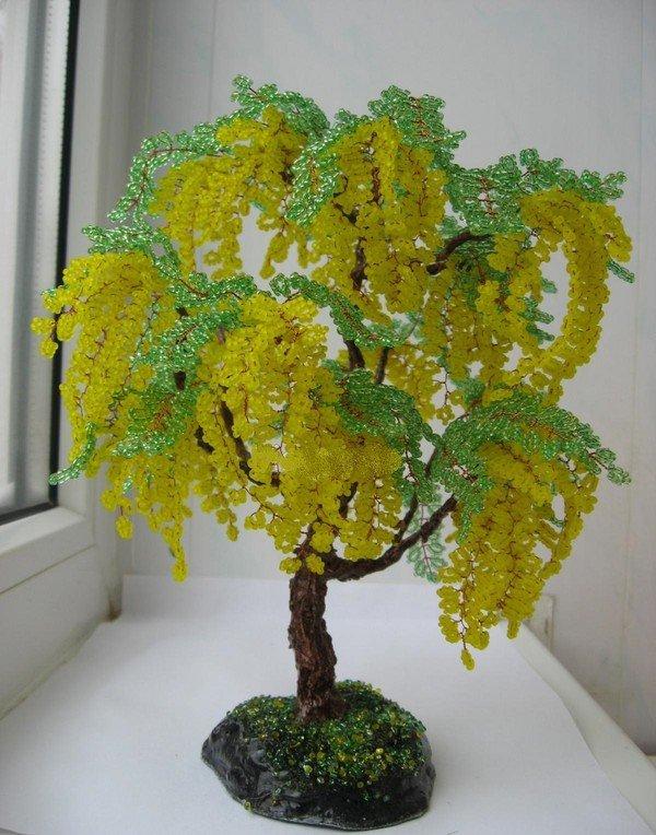 Фото поделок из бисера цветы и деревья 47