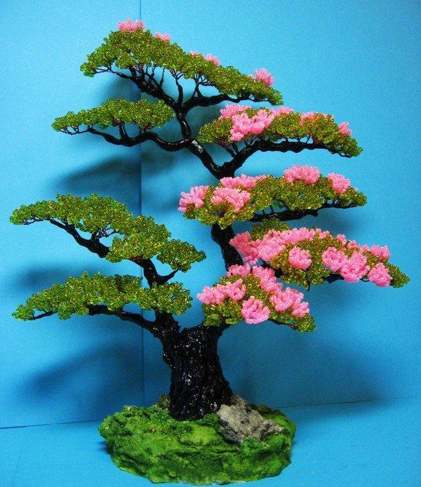 Бисерные деревья пошаговая инструкция