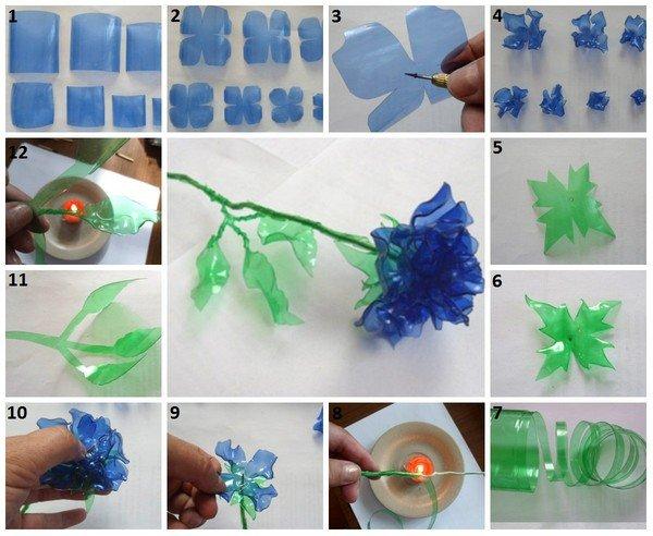 Поделки из бутылки пластиковой своими руками видео