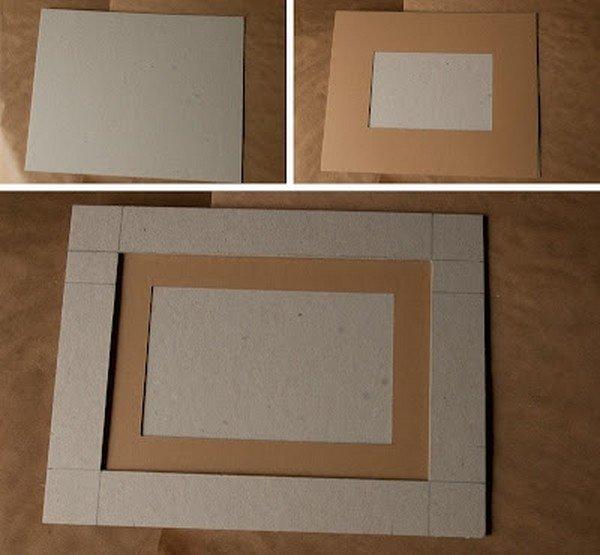 Рамочка из картона для винтажной фотографии