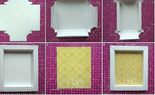 Рамки из картона на стену своими руками