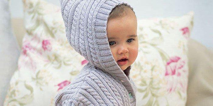 пальто спицами как связать для девочки 1 2 лет с описанием
