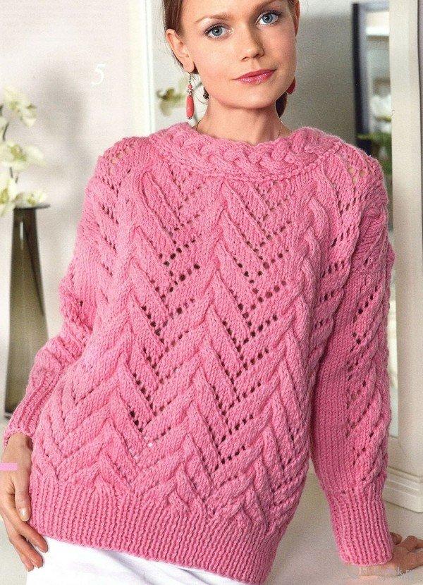 Вязаные свитера для девушек своими руками