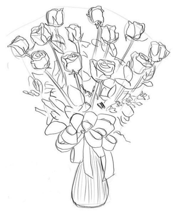 Рисунок на День матери красками и карандашом поэтапно в