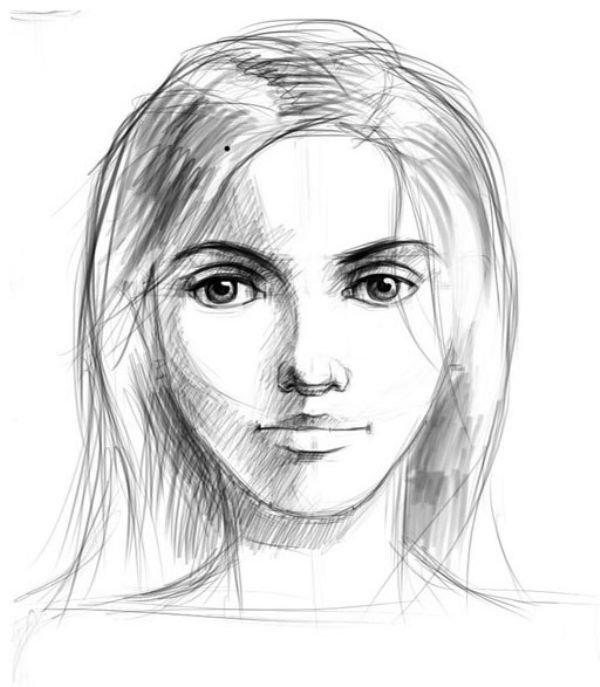 Девушка с айфоном рисунки карандашом