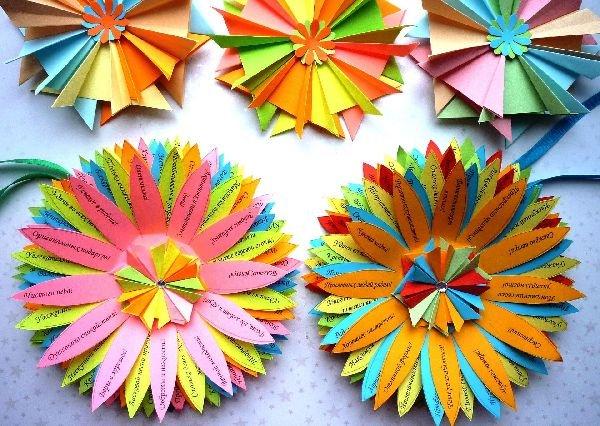 Объемные цветы из бумаги: шаблоны и мастер-класс