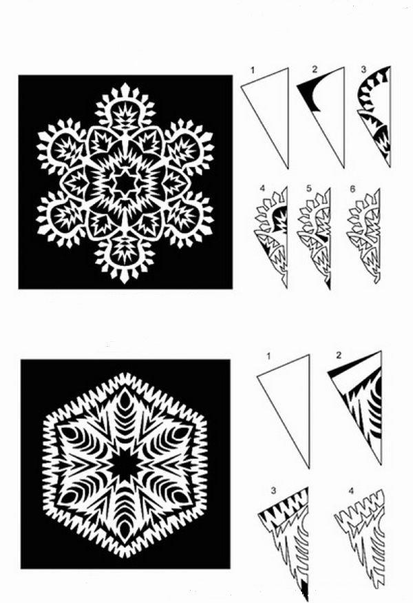 Как вырезать красивые снежинки из бумаги своими руками 21