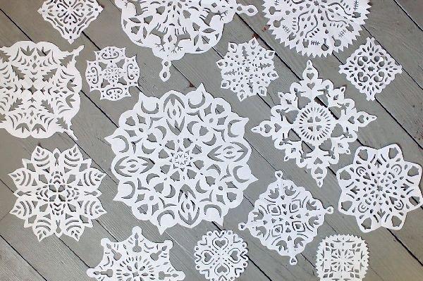 Схемы объемных снежинок своими руками