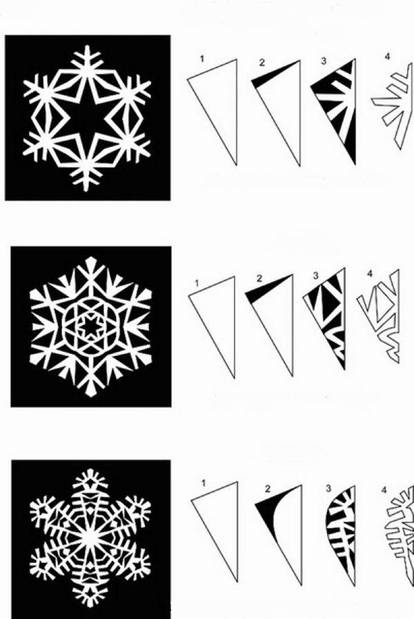 Снежинки ажурные схемы
