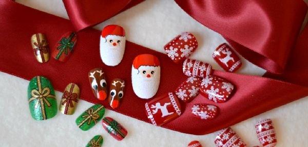 Новый год шеллак на короткие ногти