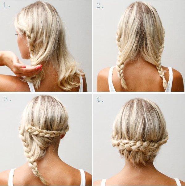 Простые прически на волосы до плеч своими руками на каждый день