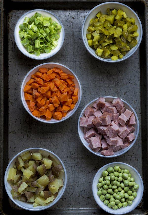 рецепт зимнего салата оливье с фото
