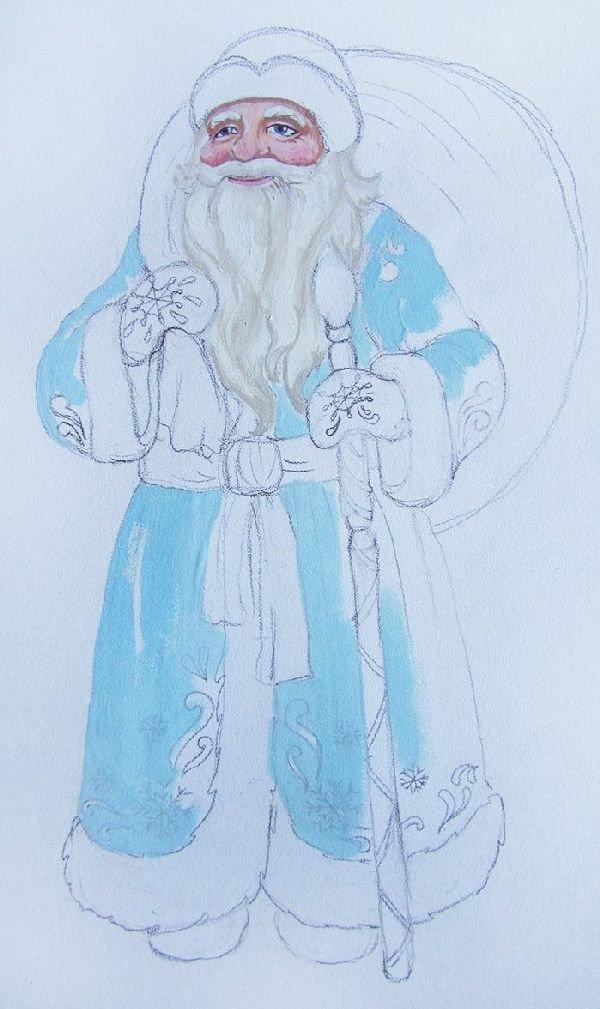 Рисунок для деда мороза своими руками 40