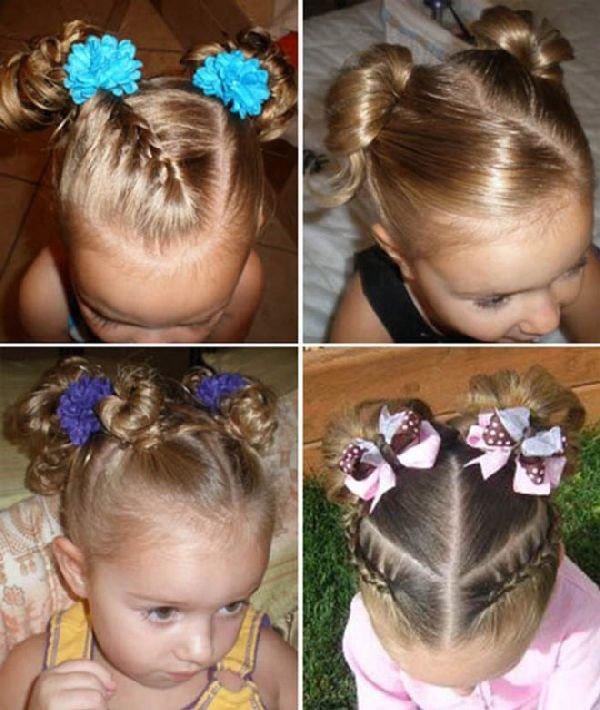 Прически для девочек на средние волосы на 1 сентября