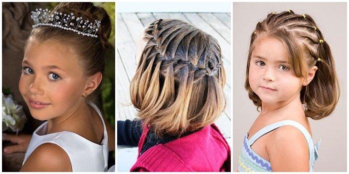 Причёски для девочек средних волос на новый год