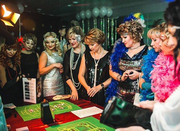 Сценарий новогоднего вечера для взрослых Театрализованное
