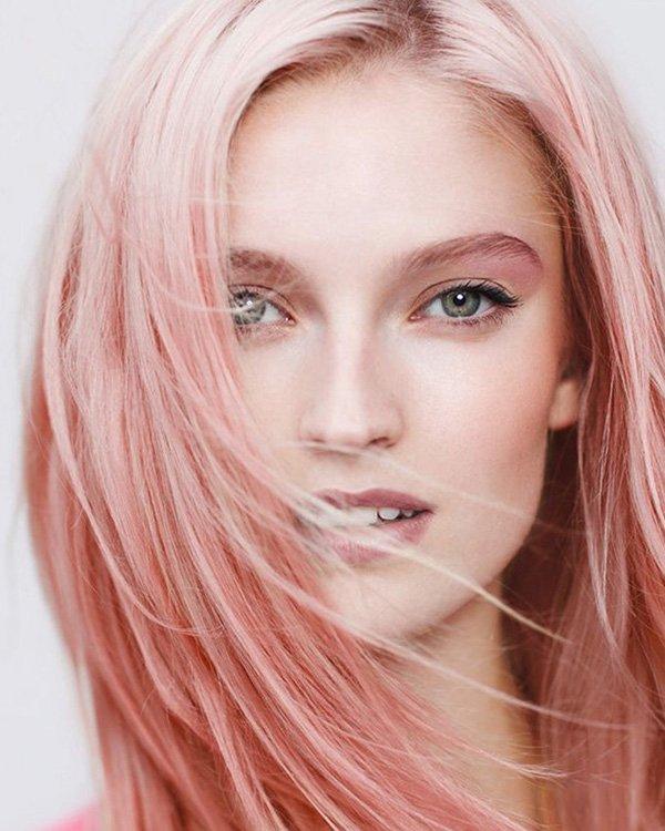 Цвет волос лососевый