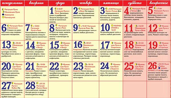 Лунный посевной календарь садовода огородника на февраль 2017