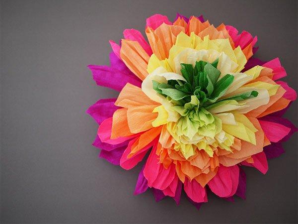 Цветы из салфеток маме на 8 марта своими руками 130