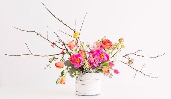 Цветы в вазе поделка к 8 марта