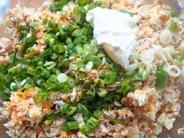 салат с отварной рыбой рецепт мимоза с