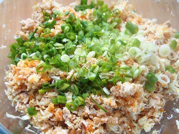 салат мимоза рецепт с рисом и горбушей консервированной