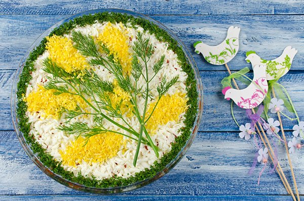 салат мимоза рецепт классический с фото с сыром