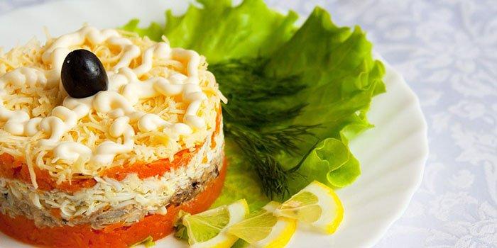 Салат Мимоза классический - пошаговый рецепт с фото на 15