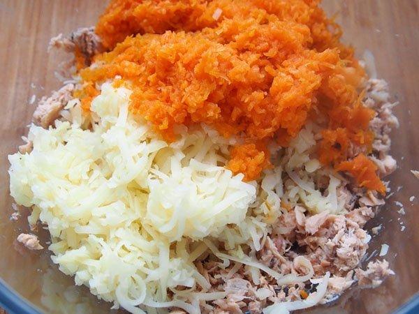 салат мимоза с горбушей рецепт с консервой