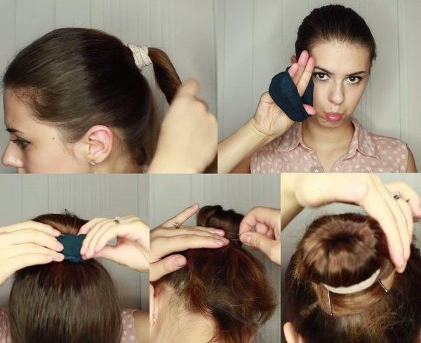 Прически своими руками на короткие волосы: простые 3
