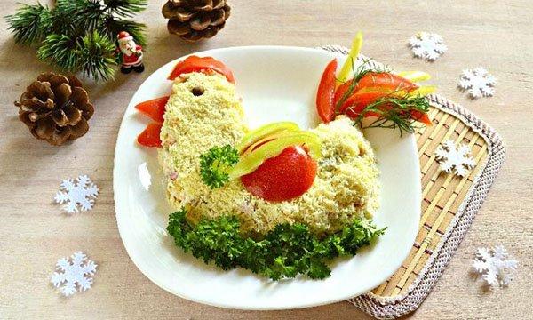 Салаты на новый 2017 год рецепты с курицей и ананасом