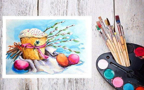 Рисунки на тему пасха для детей своими руками