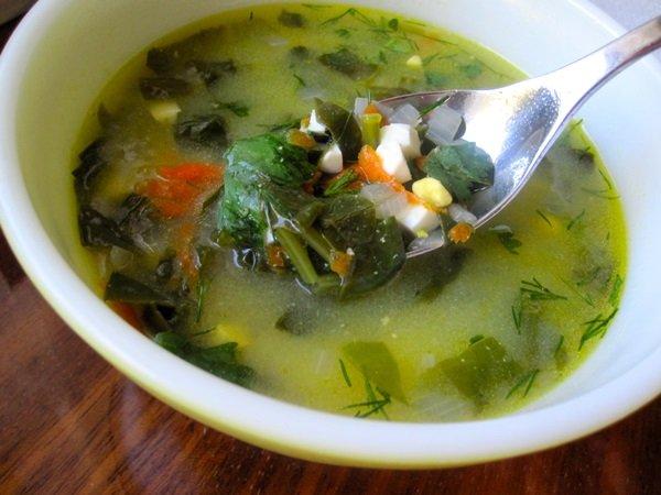 суп из щавеля как приготовить видео