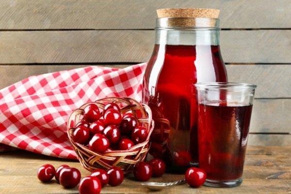 Как сварить компот из вишни и малины
