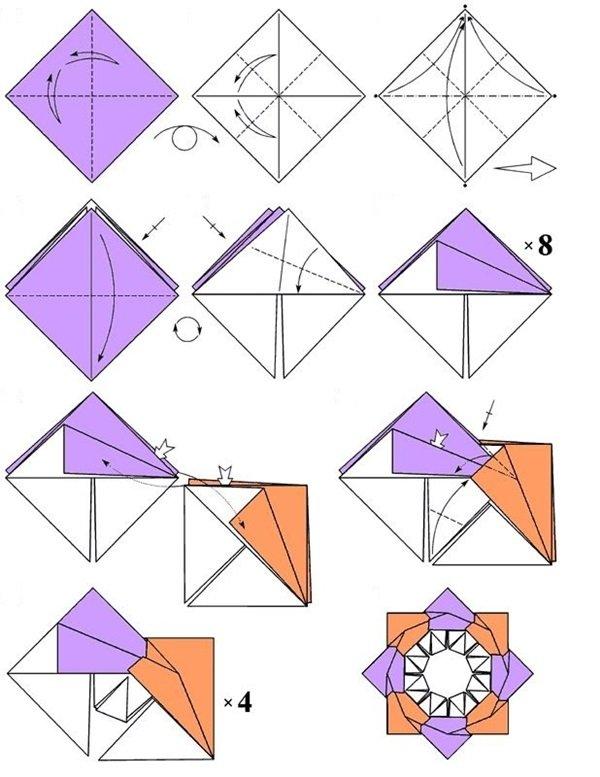 Как сделать звездочки из бумаги в оригами 241